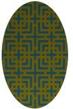 rug #1222439 | oval check rug