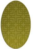 rug #1222706 | oval check rug