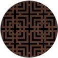 rug #1223115 | round black rug