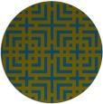 rug #1223175   round green rug