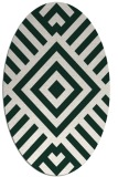 rug #1224802 | oval stripes rug