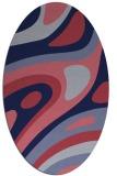 rug #1227975   oval blue-violet rug