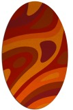 rug #1228147 | oval orange rug