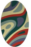 rug #1228219 | oval blue-green rug