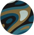 rug #1228647 | round black abstract rug