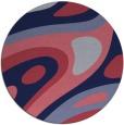 rug #1228711 | round blue-violet rug