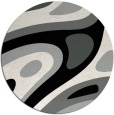rug #1228767 | round black abstract rug