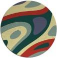 rug #1228955 | round yellow rug