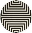 rug #1289363 | round black rug