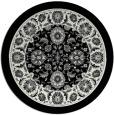 rug #1306047 | round black damask rug