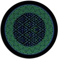 rug #1307943 | round black damask rug