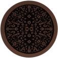 rug #1309595 | round black damask rug