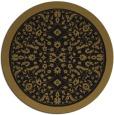 rug #1309599 | round black rug