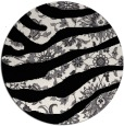 rug #1320911 | round black abstract rug
