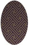 rug #170769 | oval purple rug