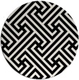 rug #171513 | round black rug