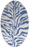 rug #172337   oval blue rug