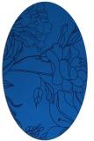rug #177745   oval blue rug