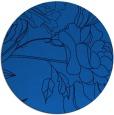 rug #178449 | round blue rug