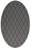 rug #181245 | oval brown rug