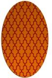 rug #181341 | oval red rug