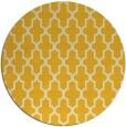 rug #182089 | round yellow rug