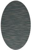 rug #186505 | oval blue-green rug