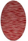 rug #186625 | oval red rug