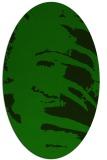 rug #188205 | oval green rug