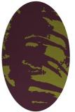 rug #188365 | oval green rug