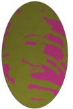 rug #188465 | oval light-green rug