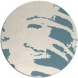 rug #188865 | round blue-green rug