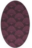 rug #191881 | oval purple rug