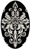 rug #193421 | oval black rug