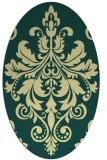 rug #193622   oval damask rug