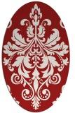 rug #193665 | oval red rug