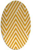 rug #195513 | oval light-orange rug