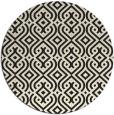 rug #203869 | round black rug