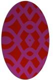 rug #204869 | oval red rug