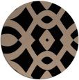 rug #205333 | round black rug