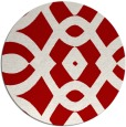 rug #205561   round red rug