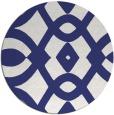 rug #205601 | round white rug