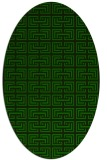 rug #208205 | oval green rug