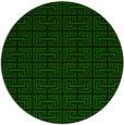 rug #208909 | round green rug