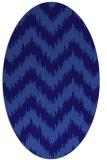rug #210001 | oval blue-violet rug