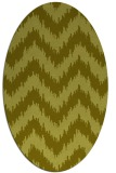 rug #210217 | oval light-green rug