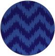 rug #210705 | round blue-violet rug