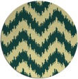 rug #210805 | round blue-green rug