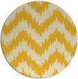 rug #210889 | round yellow rug