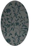 rug #213545 | oval blue-green rug